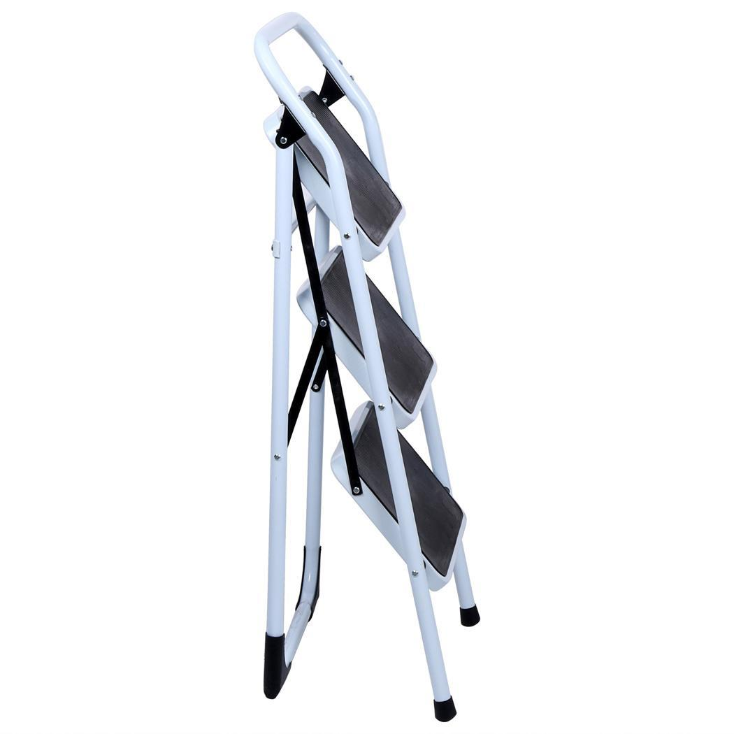 Homdox Fold Up Thin Easy Storage 3 Step Stool Platform