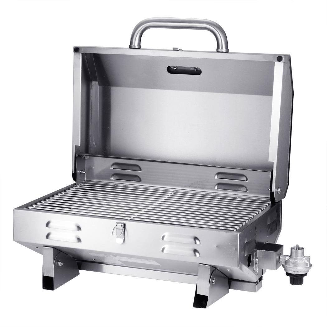 fashion portable stainless steel outdoor camping bbq tabletop propane gas grill ebay. Black Bedroom Furniture Sets. Home Design Ideas