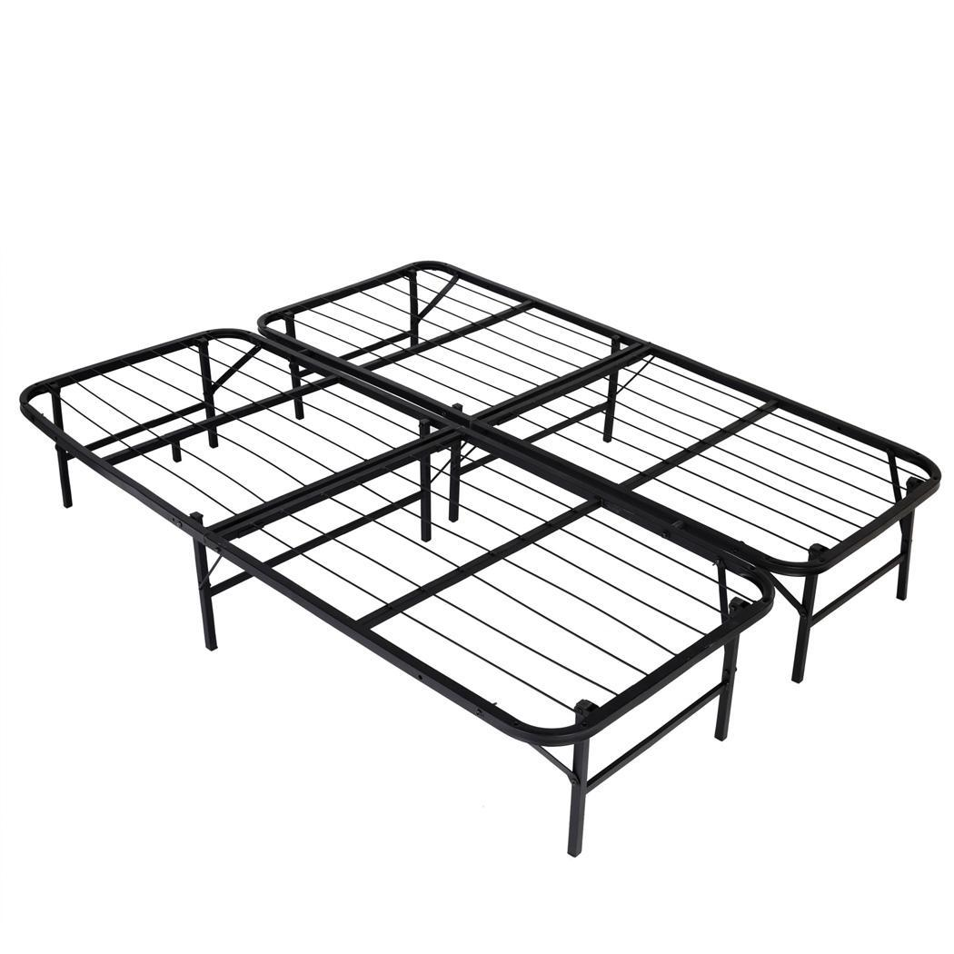 hot 77 u0026quot  inch queen size platform bed frame with metal