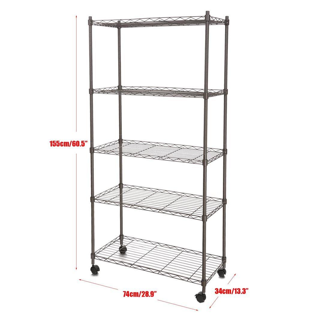 homdox multilayer tier shelf steel wire metal shelving. Black Bedroom Furniture Sets. Home Design Ideas