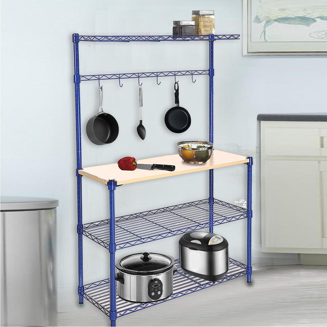 Kitchen Shelves Ebay: Bakers 4 Tiers Rack Wood Cutting Board Kitchen Workstation